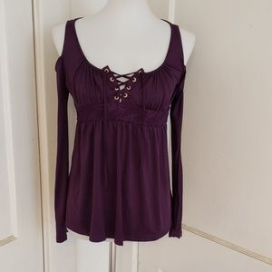 COLD SHOULDER BABYDOLL TOP